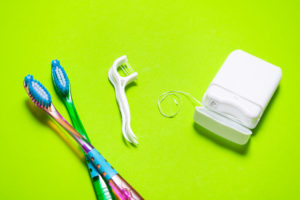 Toothbrushes, floss picks, and dental floss